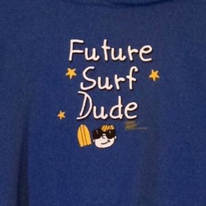 Royal Blue Youth Hoodie, Future Surf Dude, NWT